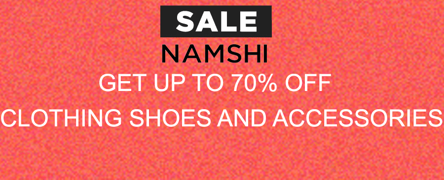 Namshi Sale on clothing, shoes and accessories